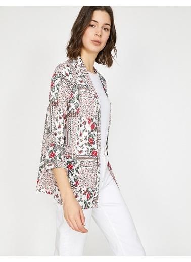 Koton Desenli Kimono Kırmızı